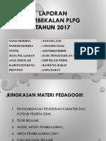 laporan PLPG  2017