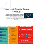 Powerboat Operator Course