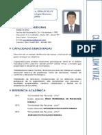 Curriculum Vitae - Ps.efrain E. de La Cruz Vizcarra