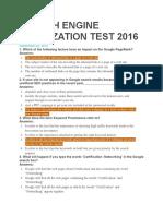 Search Engine Optimization Test 2016