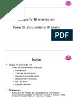 Tema 10 Enrutamiento Ip Basico
