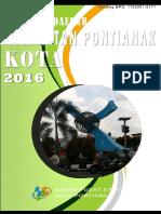 Statistik Daerah Kecamatan Pontianak Kota 2016
