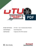 DTU400 Using the 1203-USB Converter Using Windows XP grgr