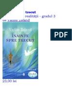 Inainte Spre Trecut - Vadim Zeland