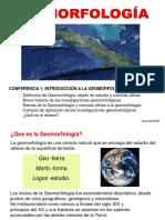 00 Conferencia 1 Introducción a La Geomorfología