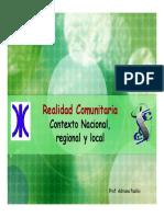 Seminario - Contexto Nacional Regional y Local