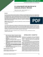Beneficios Clinicos y Prescripción Del Ejercicio en La Prevención Cardiovascular Primaria