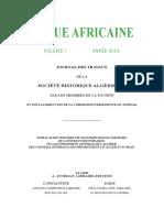 Revue Africaine Volume1