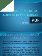 6.- Generalidades de La Audiencia Preliminar