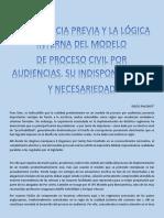 7.- La Audiencia Previa y La Lógica Interna