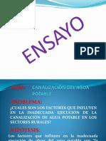 Ensayo --- Canalizacion Del Agua Potable