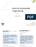 Introduction to Sustainable Engineering Module 1