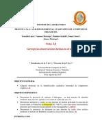 Informe análisis orgánico