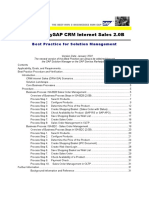 Manage MySAP CRM Internet Sales 2.0B