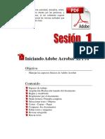Manuales_Adobe Acrobat XI_Sesión 1 Adobe Acrobat XI Pro