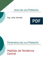 Estadística y Probabilidad - Parámetros de Una Población