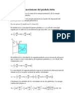 Péndulo Doble - Ecuación Del Movimiento