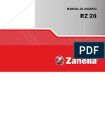 Zanella - RZ20 Manual