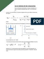 Equilibrio de Fases en Sistemas de Dos Componentes