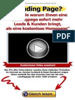 8 Gründe, Warum Ihnen Eine Landingpage Sofort Mehr Leads & Kunden Bringt, Als Eine Kostenlose Homepage (German Edition)_nodrm
