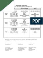 Jadual Ujian Ogos Ting 4