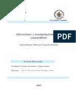 Villarroya Maria Begoña - Alteraciones Y Manipulaciones De La Contabilidad