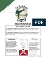 Lac du Bonnet Karate Handbook