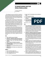 Maintaining Motor Efficiency During Rebuilding