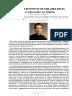 Modelo Educativo- El Sistema Preventivo de San Juan Bosco.