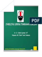 2017, Presentation Stabilitas Lereng. Sosialisasi SNI Geoteknik Semarang