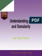 Marc Stranz Understanding PH and Osmolarity INS 2008