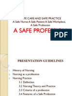 Safe Profession Advance Nursing Practice Ppt