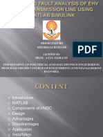 Design And Fault Analysis Of EHV HVDC Transmission Line Using MATLAB Simulink