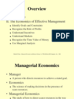 Overview Managerial Economics