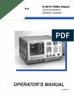 R-2670 FDMA Operator Manual 68-80309F17