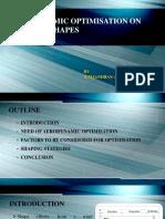 Aerodynamic Optimisation on Building Shapes