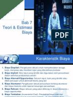 BAB 7 Teori dan Estimasi Biaya.pptx