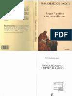 Rosa Calzecchi Onesti - Leggo Agostino e Imparo Il Latino