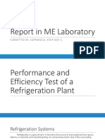 318680841 Performance and Efficiency Test of a Refrigeration Plant