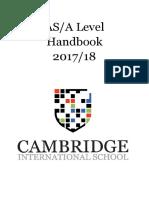 As & a Level Handbook 2017-18