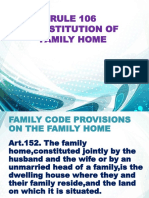 Rule 106 Constitution of Family Home Pptx
