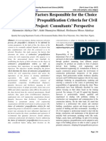 Assessment of Factors Responsible for the Choice of Contractors' Prequalification Criteria for Civil Engineering Project