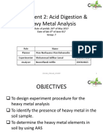 Acid Digestion and Heavy Metal Analysis