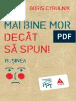 Boris Cyrulnik - Rușinea. Mai Bine Mor Decât Să Spun.pdf