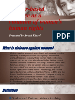 Gender-based Violence as a Violation of Women's Human's