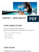 Chapter 5 - Water Analysis