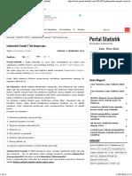 Independent Sample T Test Dengan Spss - Portal Statistik
