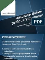 Instumen Dalam Praktek Kebidanan PPT