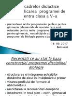1. Constructia Programei Biologie