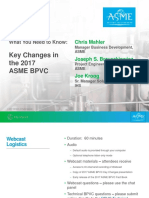 Key Changes for 2017 BPVC